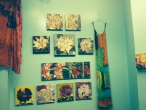 Carolina Flores silk painting