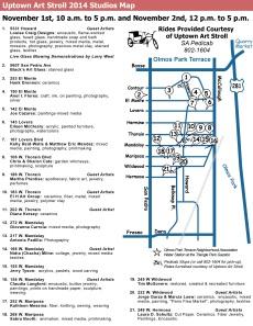 Uptown Art Stroll Map